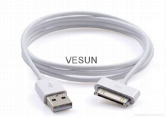 30 Pin USB Charging & Data Sync Cable for Apple iPhone 3 4 4S iPad 2 3 1m