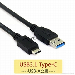 USB3.1 Type-A TO Type-C cable