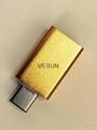 USB3.1 公轉USB3.0母轉接頭(鋁殼)