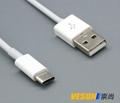 USB3.1Type-C转USB2.0公数据充电线