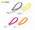 Magnetic Flat USB Data Changer Cable Cord For iPhone 5 5C 5S