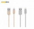 合金編織麵條扁線  IPHONE6鋁合金數據線 通用USB數據線