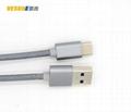 USB3.1 TYPE C轉USB3.0A公數據線 金屬鋁殼+尼龍編織