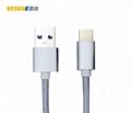 USB3.1 TYPE C转USB3.0A公数据线 金属铝壳+尼龙编织  1