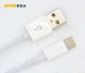USB3.1Type-C转USB2.0公数据充电线  1