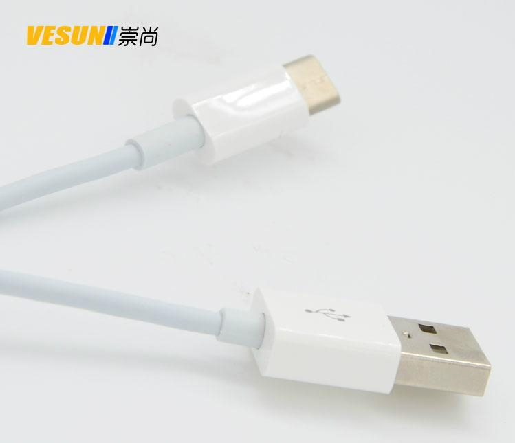 USB3.1Type-C转USB2.0公数据充电线  2