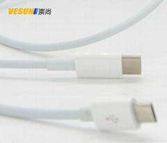 USB3.1  Type-C 转Micro USB转接线苹果电脑安卓手机充电线