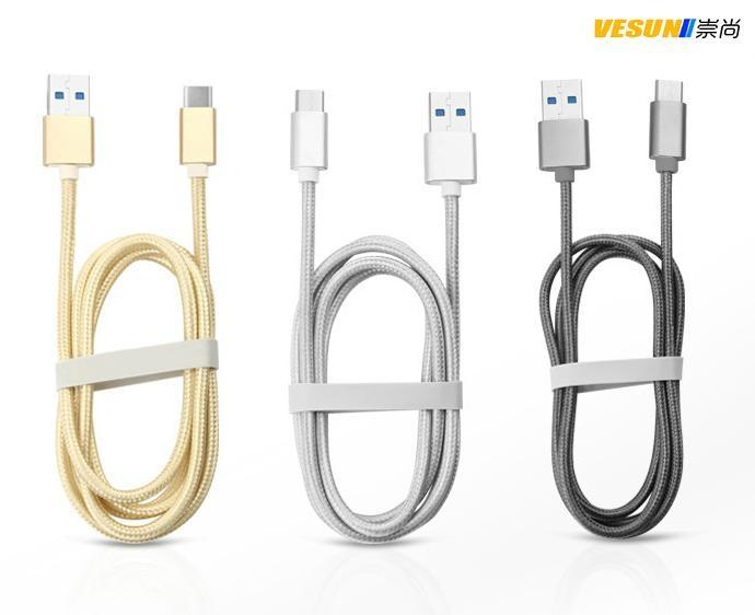 USB3.1 TYPE C轉USB3.0A公數據線 金屬鋁殼+尼龍編織  4
