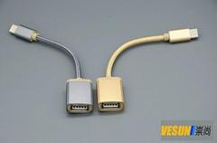 USB3.1 Type-C 转USB3.0母转接线,USB3.1 Type-C OTG线
