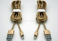 一一頭兩用 二合一數據線蘋果iPhone 安卓通用2A金屬尼龍手機充電線