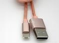 一一頭兩用 二合一數據線蘋果iPhone 安卓通用2A金屬尼龍手機充電線 5