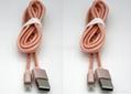 一一頭兩用 二合一數據線蘋果iPhone 安卓通用2A金屬尼龍手機充電線 4
