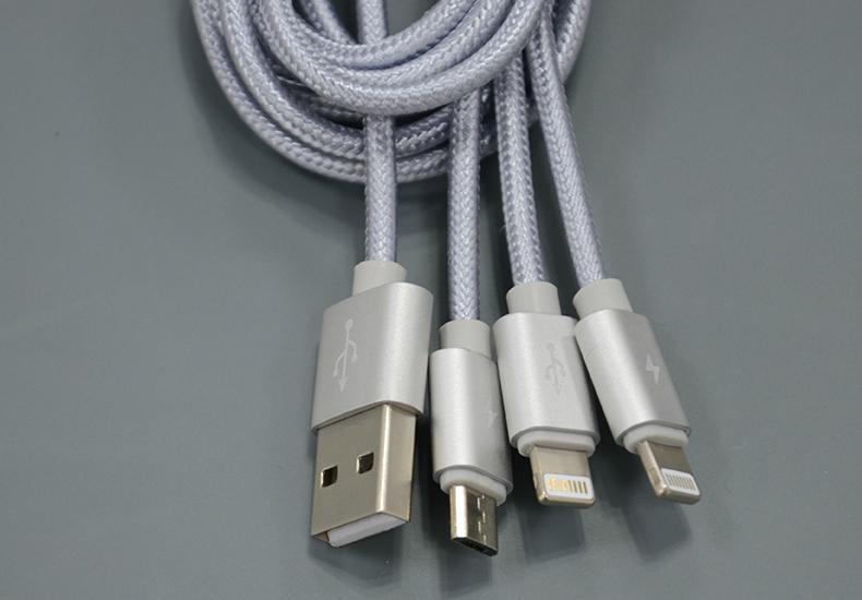 一拖三手機數據線適用於蘋果蘋果6和安卓 6