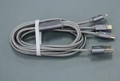 一拖三手機數據線適用於蘋果蘋果6和安卓