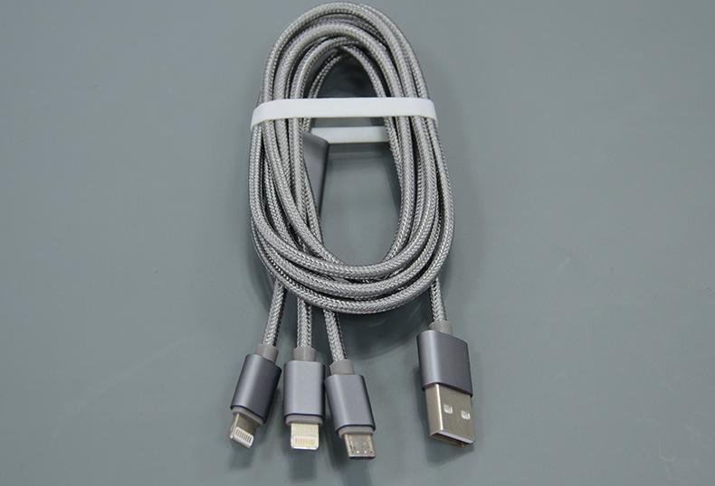 一拖三手機數據線適用於蘋果蘋果6和安卓 2