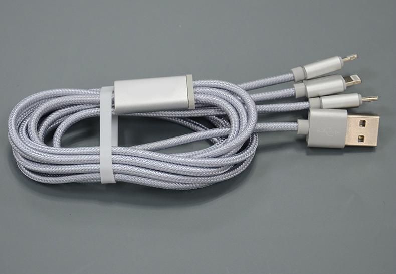 一拖三手機數據線適用於蘋果蘋果6和安卓 5