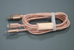 一拖二手機數據線適用於蘋果