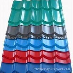 Prepainted corrugated steel profile roofing sheet