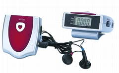 Novelly-Designed Pedometer with Auto-Scan FM Radio
