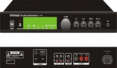 Mixer amplifier with timing and tuner