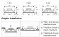 High quality control ceiling speaker (Y-601) 3