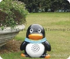 Lovely Penguin Garden Trumpet, Park Horn, Speaker (Y-913)