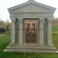 Haobo Stone 6 CRYPTS GRANITE WALK-IN MAUSOLEUM