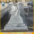 Hand Carved Grey Granite Angel of Grief Big Monument  3