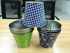 tin pails and tin bucket