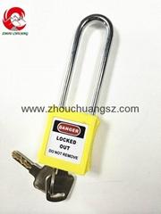 ZC-G21 Yellow ABS / Stainless Steel / Nylon Xenoy Safety Padlock