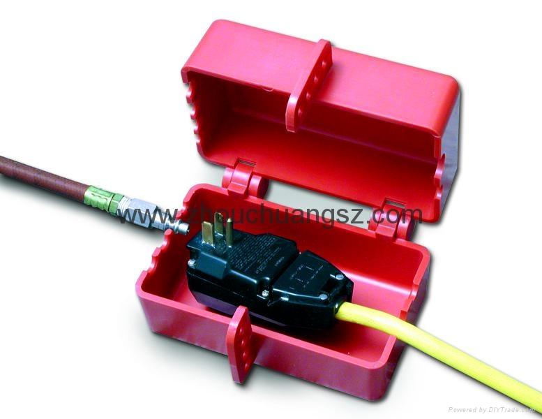 ZC-D31 堅固耐用聚苯乙烯材質 電氣插頭鎖 安全鎖具專家 7
