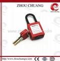 ZC-G11DP 防塵尼龍短梁工業安全挂鎖 2