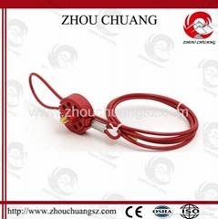 ZC-L31 旋轉車輪式纜繩鎖,安全繩鎖
