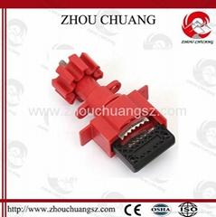 新產品ZC-F34 萬用球閥鎖具,洲創萬用門閥鎖,安全鎖具安全防護接受OEM