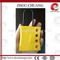 ZC-K46 New Nylon lockout HASP, Yellow