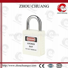 ZC-G21 Yellow ABS / Stainless Steel / Nylon Xenoy Safety Padlock