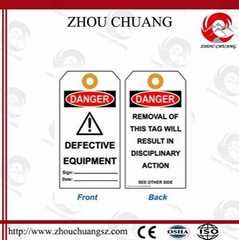 ZC-T01 Safety Tagout, Safety labels, Lockout Tagout