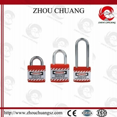 ZC-J21 Metal lock body inside safety Jacket Padlock