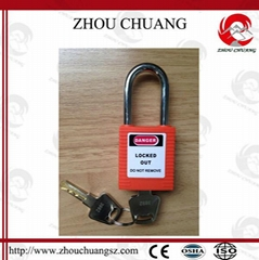ZC-G01 38mm Steel  Shackle Safety Padlock, ABS Body Lockout Padlock