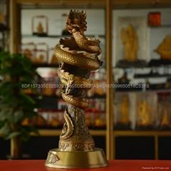 銅雕工藝品天龍八部龍杯