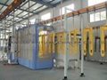 Automatic powder coating spray booth