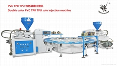 PVC TPR TPU fullautomatic type of double-color plastic sole injection moulding