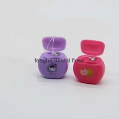 Mini round shape dental floss approved FDA and ISO9001 can do OEM
