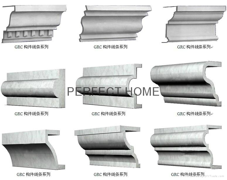 Architectural Commercial Exterior Decorative Trim : Decorative wall line grc cornice moulding for architecture