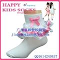 2015年漂亮的純棉兒童花邊襪