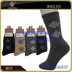 中國襪子工廠定做男士羊毛襪