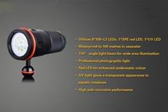 professional led diving video flashlight