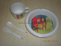 melamine children dinner set
