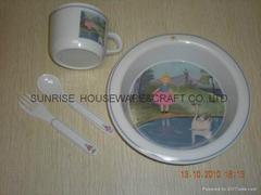 melamine baby dinnerware