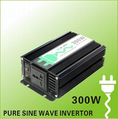 Pure Sine Wave DC12V 24V to AC110V 220V Power Inverter with USB 300W